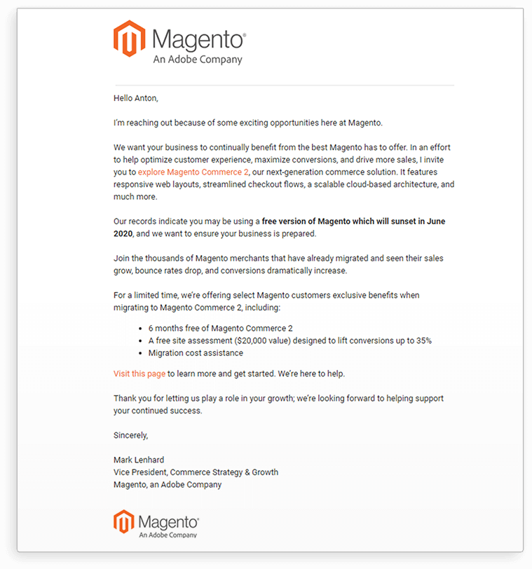 Should We Say Goodbye to a Free Magento E-commerce Version?